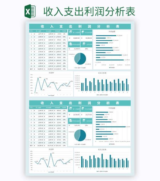 收入支出利润分析表