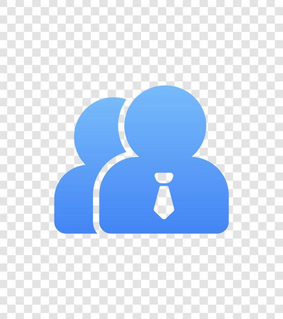 SVG格式蓝色人物图标
