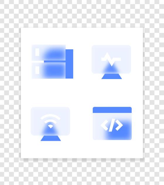 毛玻璃科技图标