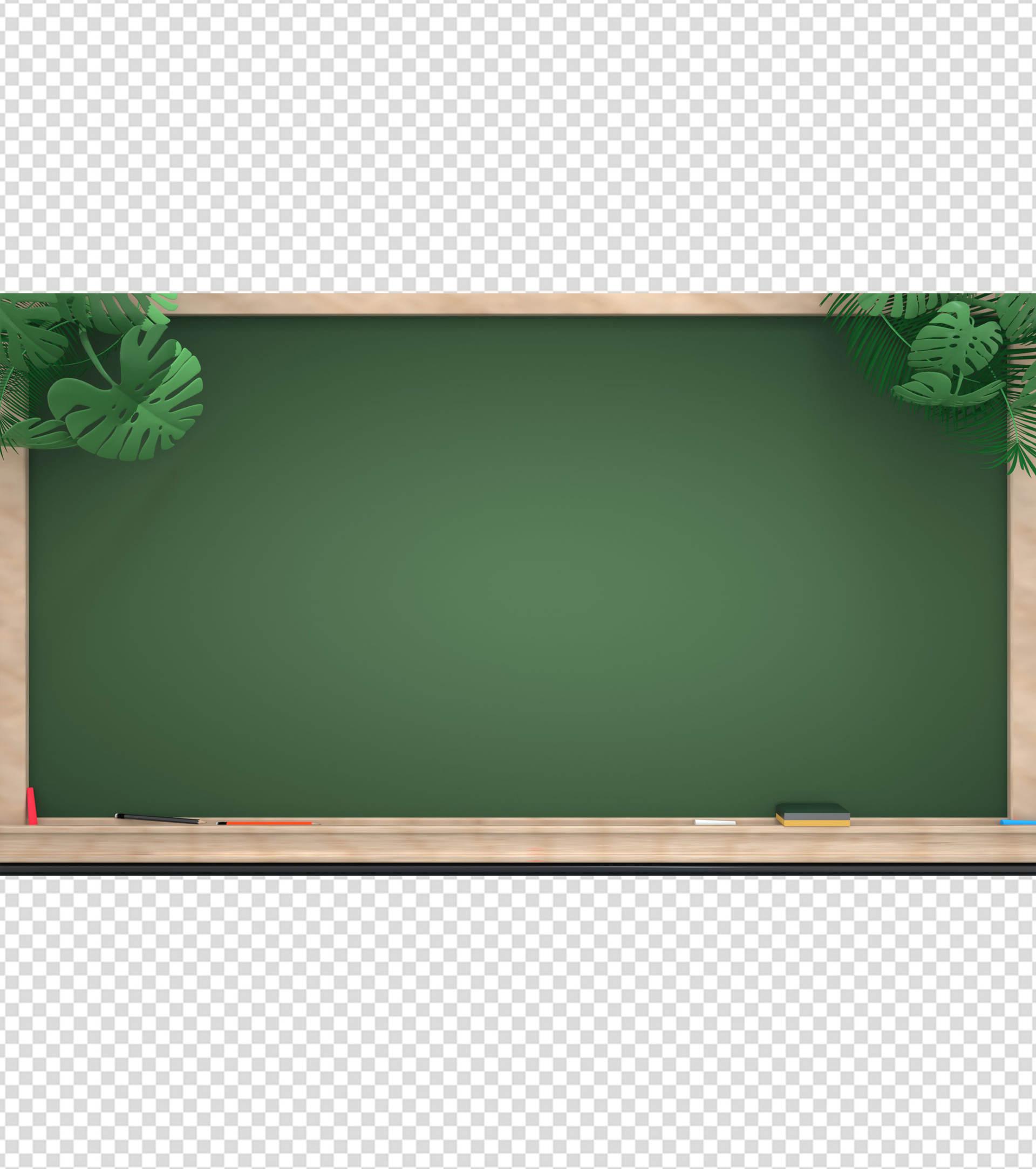 校园创意黑板PPT背景模板