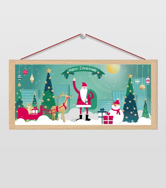 手绘圣诞老人插画