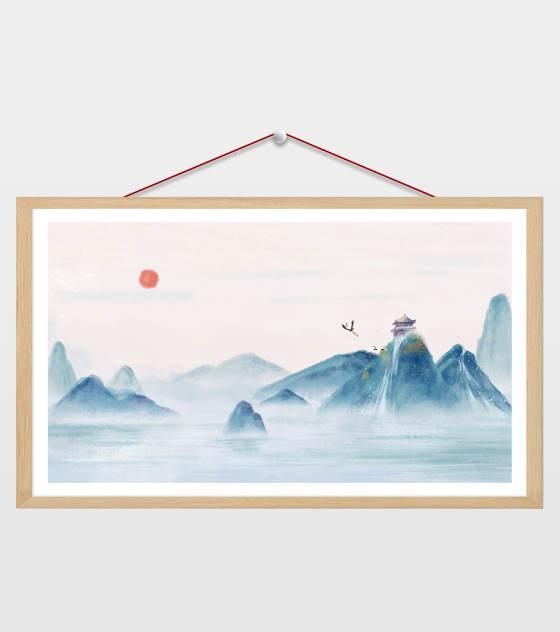 中国风意境山水插画