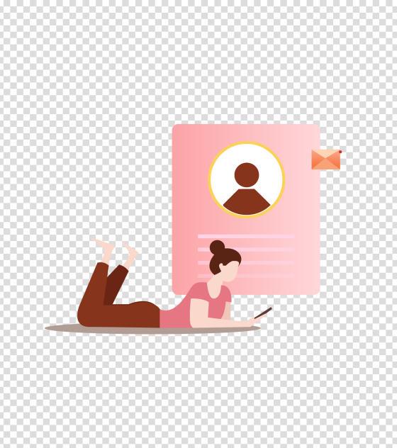 粉色社会沟通社交场景
