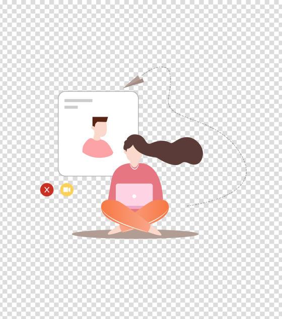 粉色浪漫情侣视频插画
