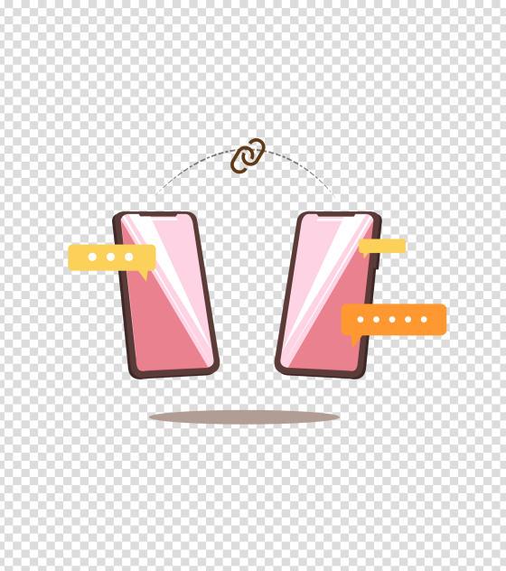 粉色手机办公互传