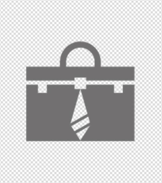 灰色公文包图标