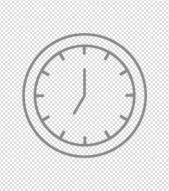 时钟简笔画图标