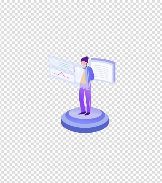 紫色未来科技办公