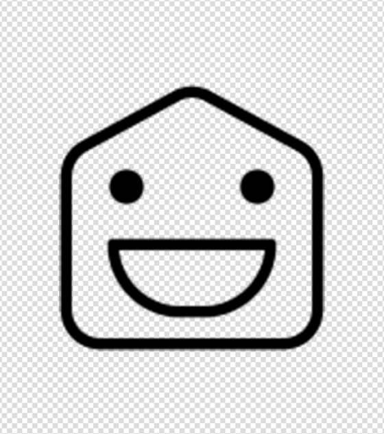 简约开心大笑表情图标