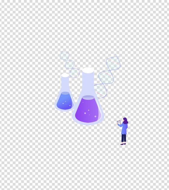 紫色化学科技药剂实验办公