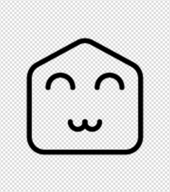 简约微笑表情图标