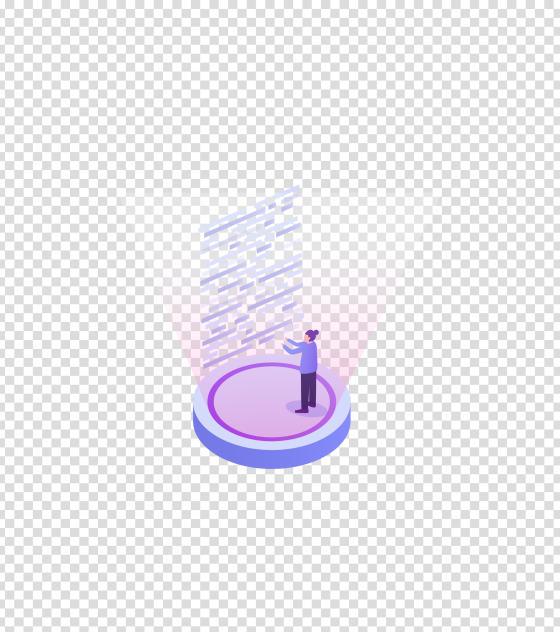 紫色未来科技资讯女孩