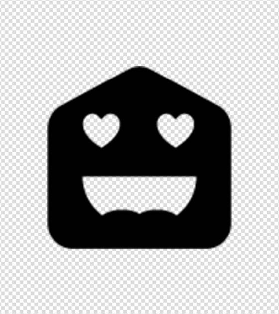 黑色色眯眯表情图标