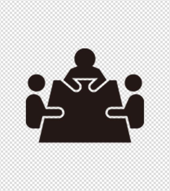 黑色三人会议图标
