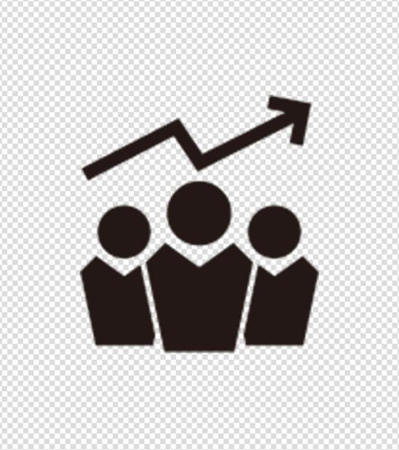 黑色三人会议业绩图标