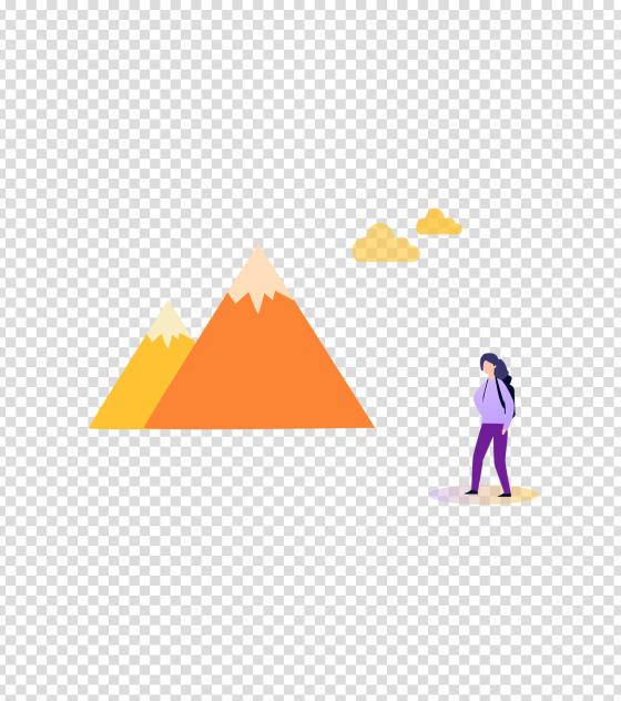 紫色户外爬山女孩