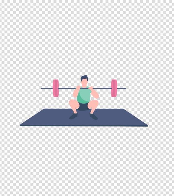 蓝色健身房举重锻炼男子