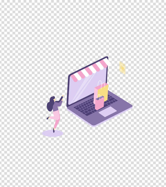 女性用电脑网购