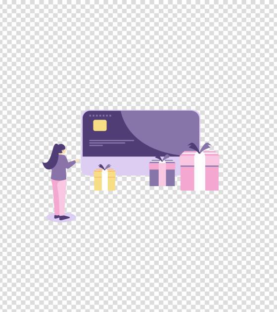 紫色办卡送礼物