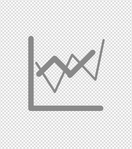 灰色股票分析图标