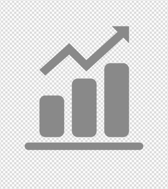 灰色数据图标
