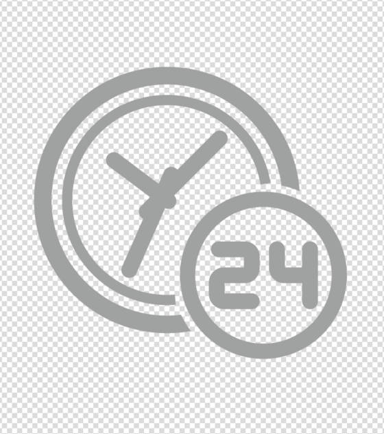 灰色24小时图标