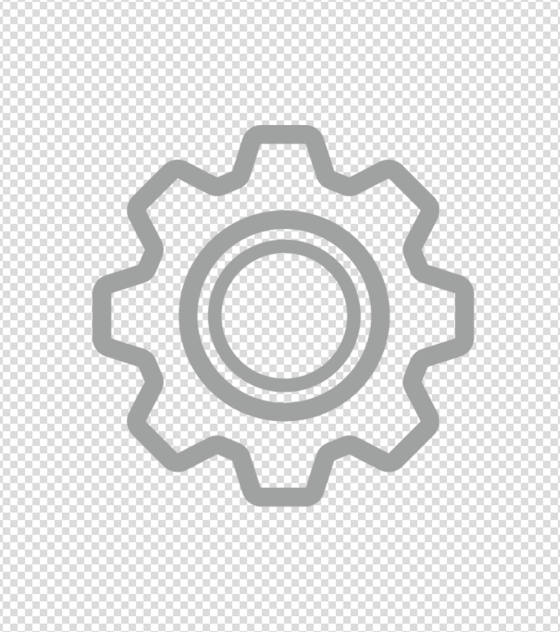灰色设置齿轮