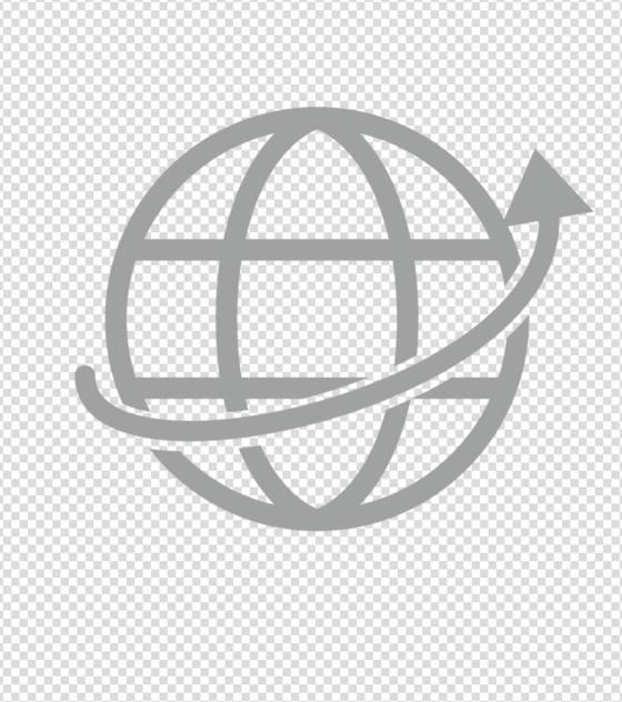 灰色网络地球图标