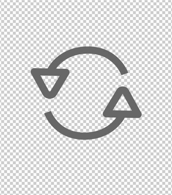 圆形三角箭头循环标志