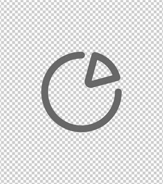 圆形八分之一图标