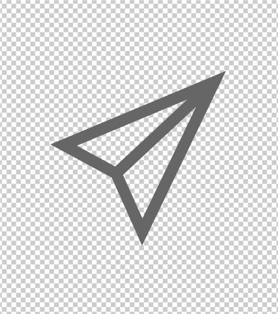 右上角三角箭头标志