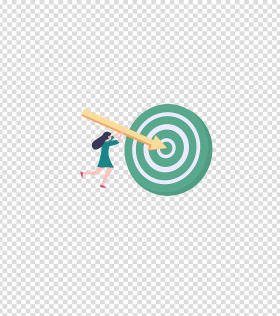 绿色信息目标圆心插画