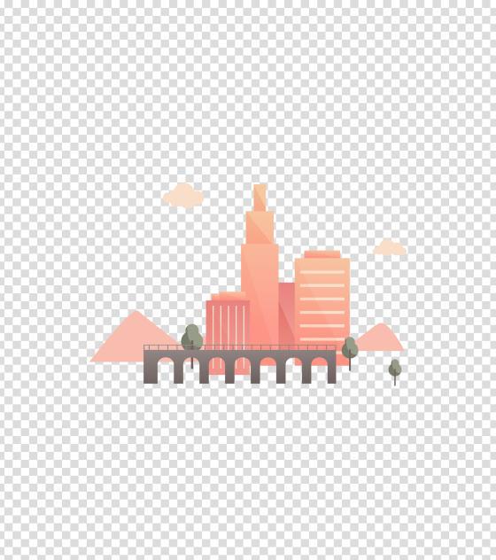 粉色几何风城市轨道
