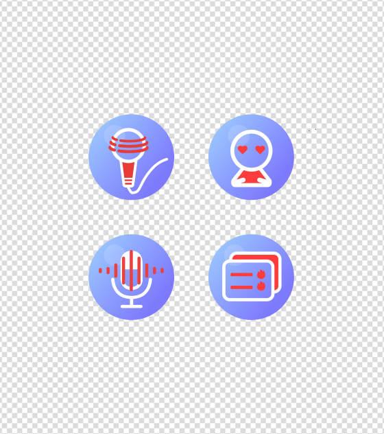 简约音乐应用UI图标