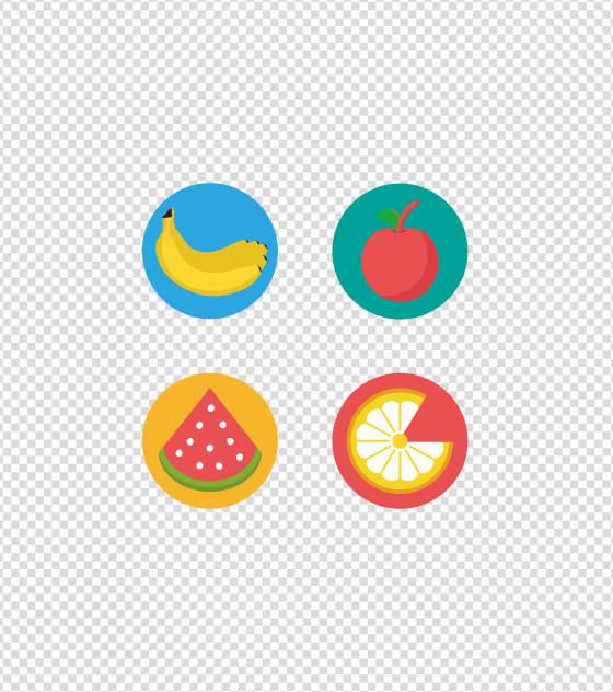 多彩卡通水果UI图标
