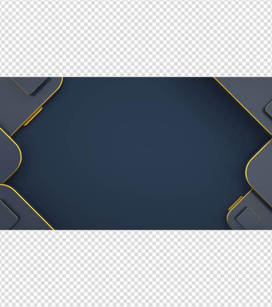 深蓝色大气简约PPT背景模板