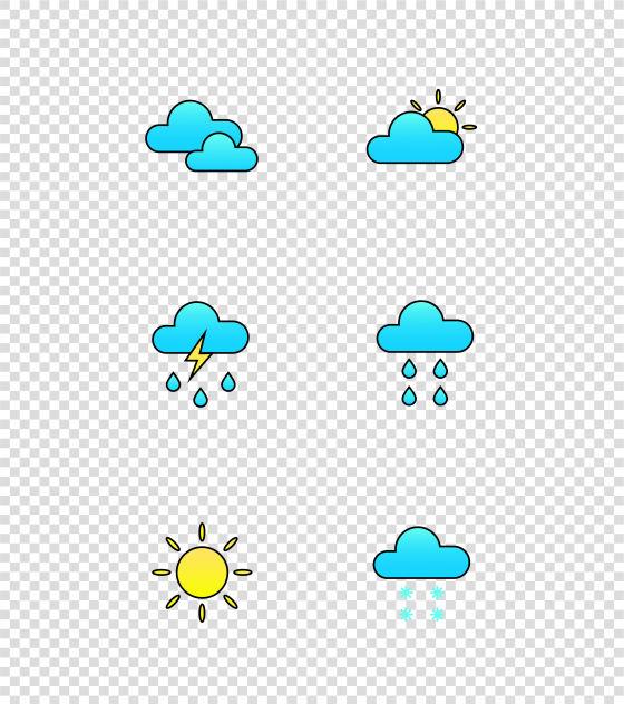 天气面性图标