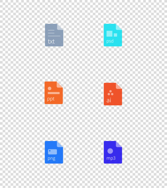 文件格式面性图标