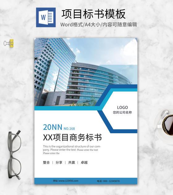 蓝色商务风项目标书