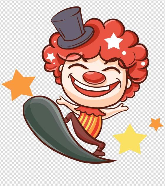 红衣小丑节日元素