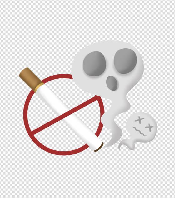 简约无烟日手绘元素