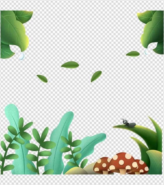 大自然清新绿植元素