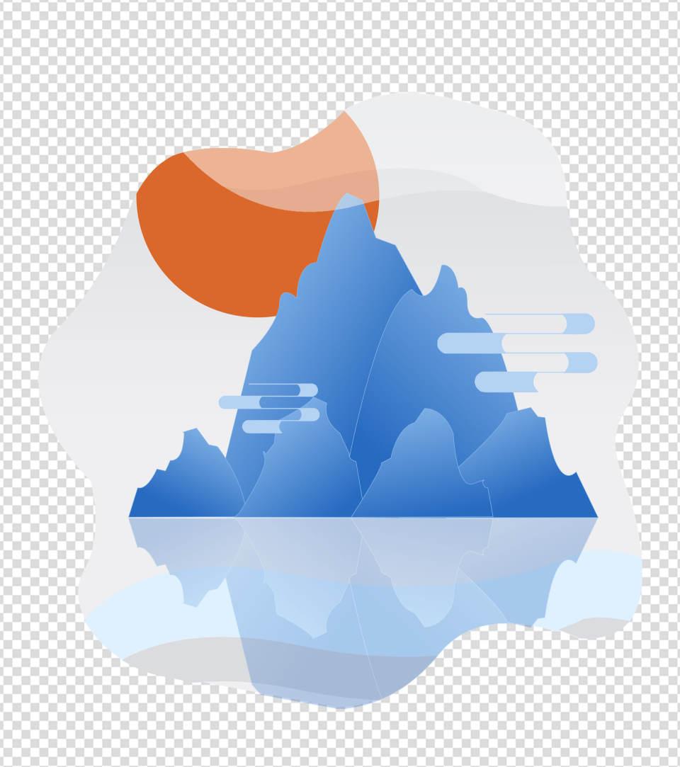 水墨国风山水元素