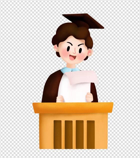 毕业答辩演讲男孩元素