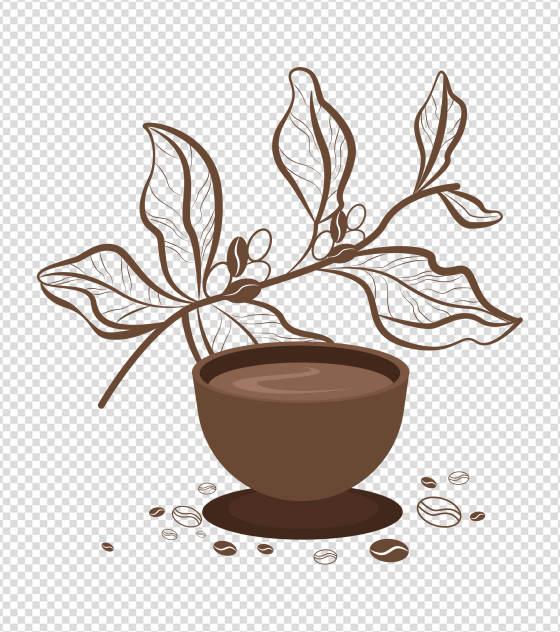 棕色现磨咖啡元素