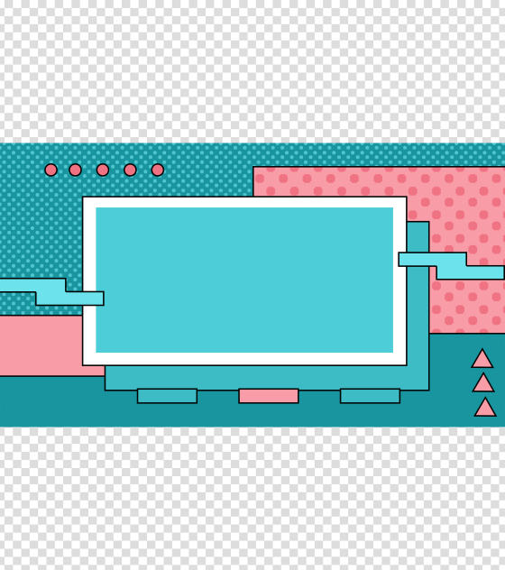青色小清新创意PPT背景模板