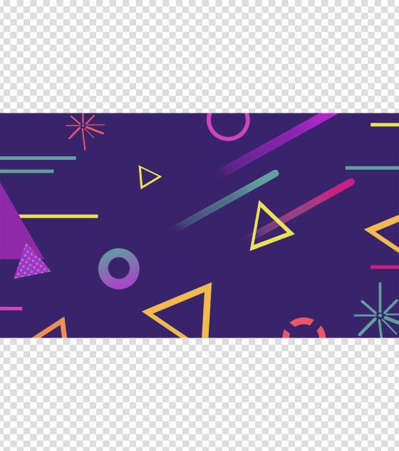 紫色几何创意PPT背景模板