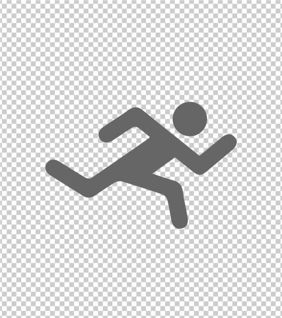 运动疾跑人像运动