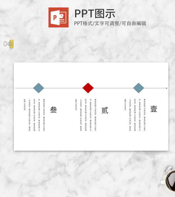 白色中国风竖版目录介绍