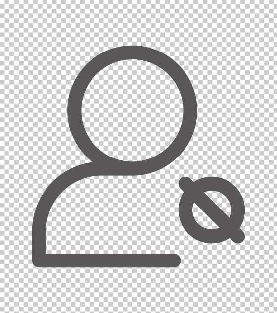 圆形禁止符号人像